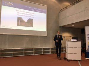 Rechtsanwalt Enrico Triebel, Schatzmeister des Deutsch-Polnischen Gesundheits- und Sozialverbandes e.V. auf der Fachkonferenz Gesundheitswirtschaft und Gesundheitswesen im Rahmen der Oder-Partnerschaft März 2018