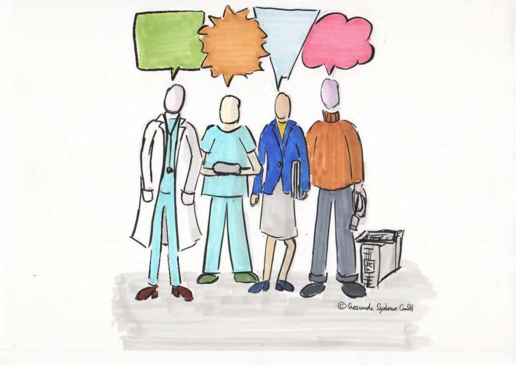 Interprofessionelle Zusammenarbeit im Krankenhaus