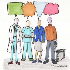 Berufsgruppenübergreifende Zusammenarbeit