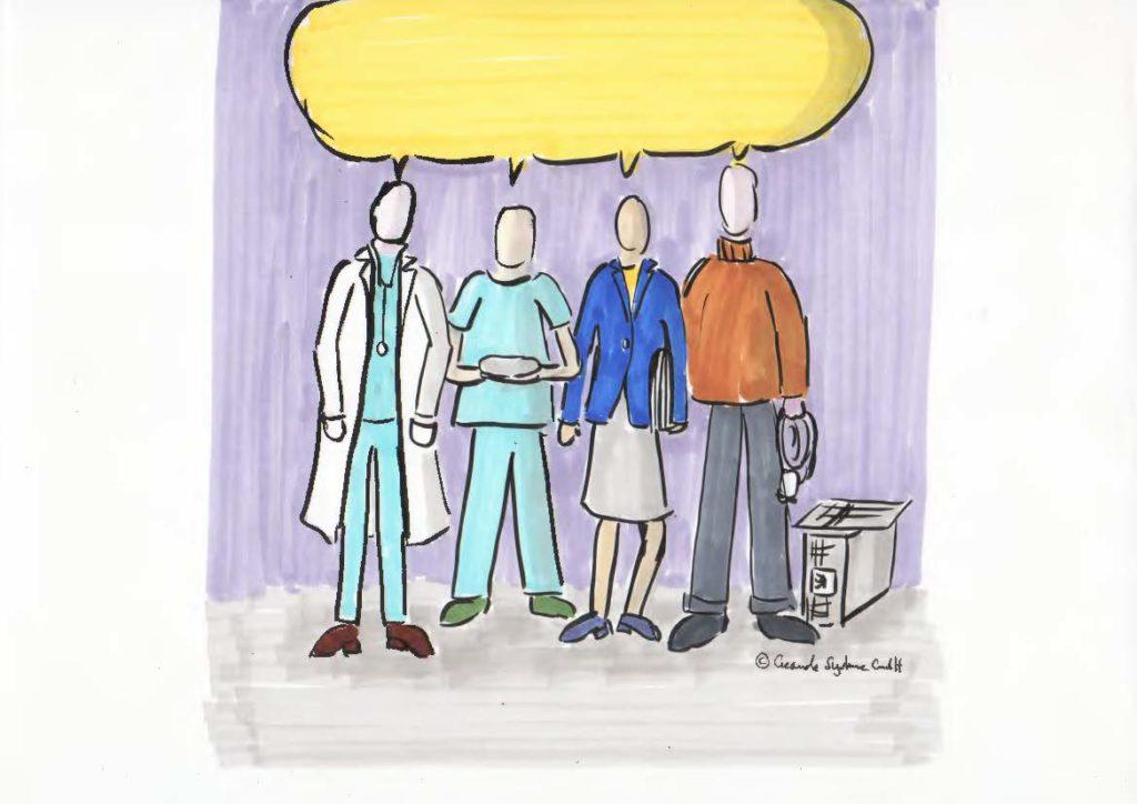 berufsgruppenübergreifende Zusammenarbeit im Krankenhaus beim Entlassmanagement