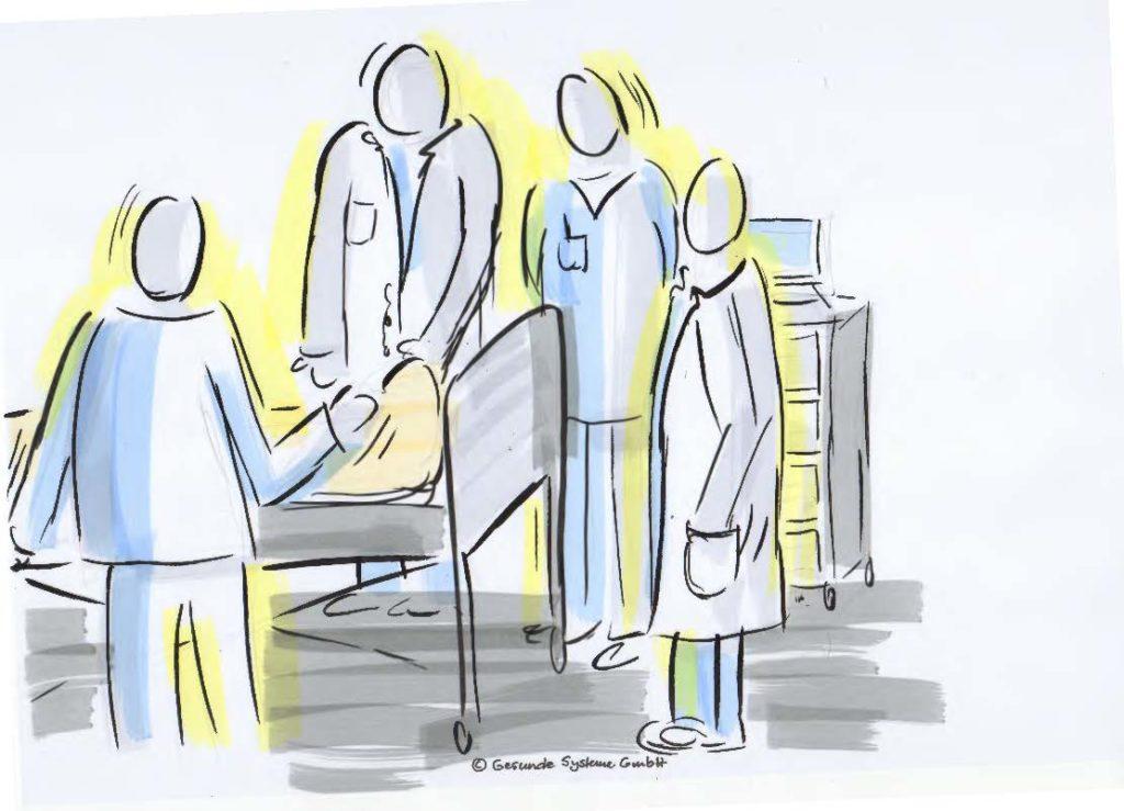 Gute Teamarbeit im Krankenhaus