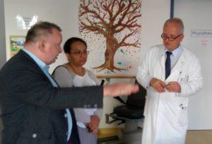 Polnische Delegation im Evangelischen Krankenhaus Luckau