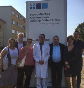 Besuch der polnischen Delegation im Krankenhaus Ludwigsfelde-Teltow