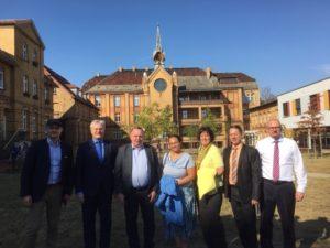 Die polnische Delegation im Lutherstift Frankfurt (Oder)