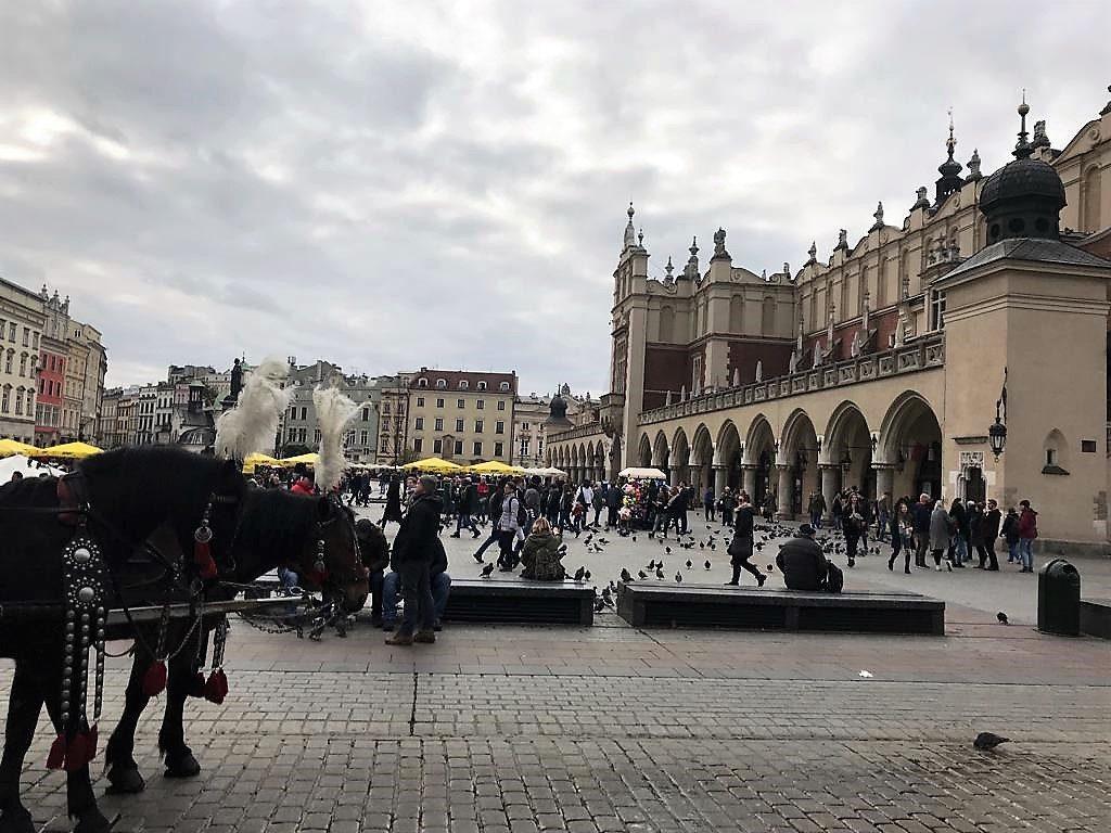 Rynek Główny, Platz aus dem 13. Jahrhundert im Zentrum von Kraków (Foto: Chris Lombardt)