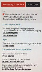 Programm des deutsch-polnischen Panel Voneinander Lernen!